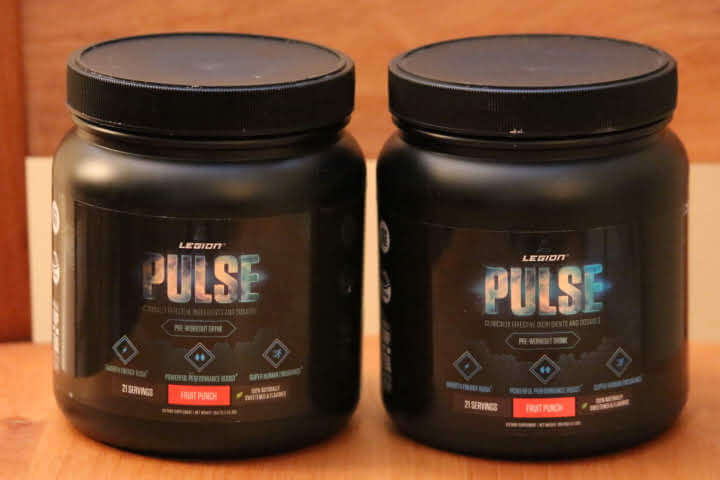 Old and New Versions of Legions Pulse Pre-Workout Drink